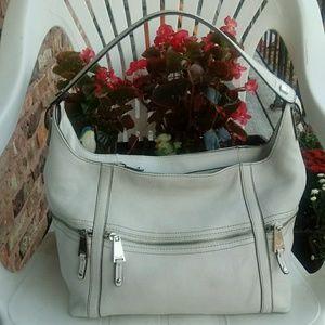 Tignanello leather gray color sholder bag